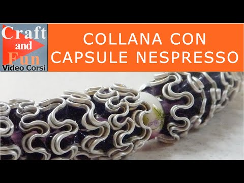 Collana con le capsule Nespresso